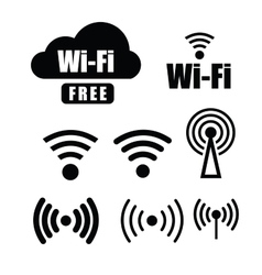 technology wi fi vector image vector image