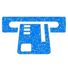 Ticket terminal grainy texture icon vector