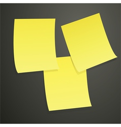 yellow notes on black vector image vector image