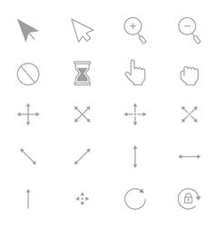 Symbols internet arrows and internet control set vector