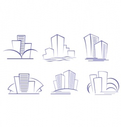 Business buildings designs vector