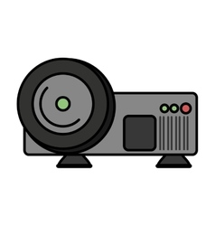 Video projector device isolated icon vector