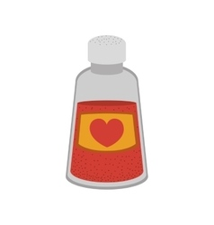Love bottle container vector