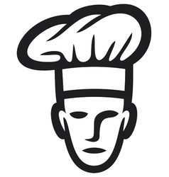 chef face-chef head vector image