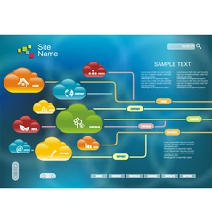 Cloud computing technology connectivity concept vector