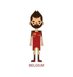 National belgium soccer football player vector