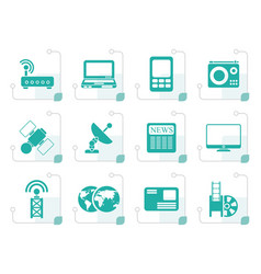 Stylized business technology communications icon vector