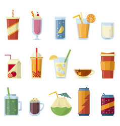 with non alcoholic drinks vector image