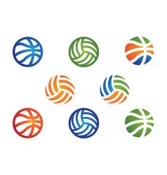 Ball icon vector