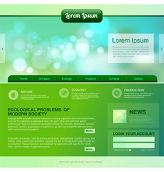 Web site design ecology background vector