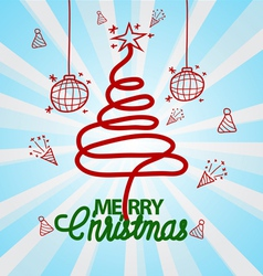 Christmas Doodle hand drawn vector image