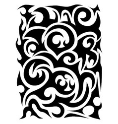 Abstract black and white pattern vector