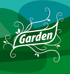 Logo of floral ornament for the garden vector