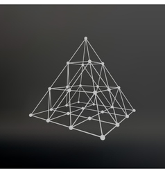Wireframe mesh polygonal pyramid pyramid of the vector