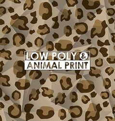Low poly animal print vector