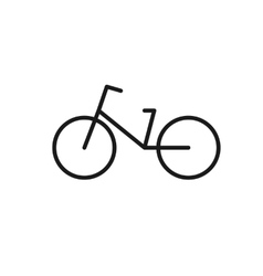 icon bike vector image