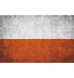 Abstract mosaic flag of poland vector