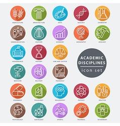 Academic disciplines icon vector
