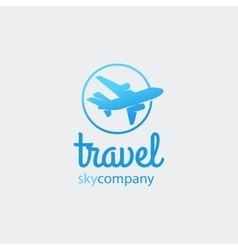 Airplane or travel logo vector