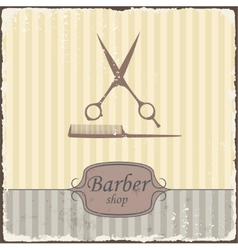 Barber shop vintage retro typography vector
