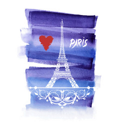beautiful eiffel tower vector image