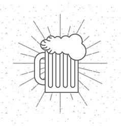Beer jar icon vector