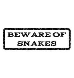 Beware of snakes watermark stamp vector