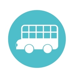 Bus classic london isolated icon vector