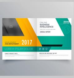 Business template for bifold brochure flyer vector