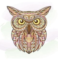 Detailed hand drawn doodle outline owl vector