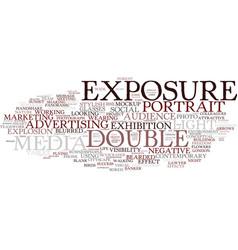 Exposure word cloud concept vector