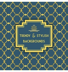 Golden and blue trendy and stylish pattern vector