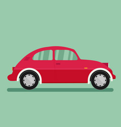 isolated car flat design style vector image vector image