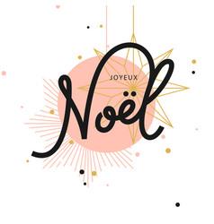 joyeux noel greeting card vector image vector image