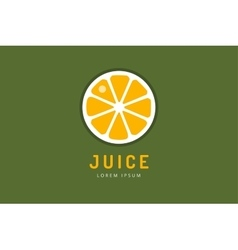 Lime or lemon fruit drink logo icon template vector