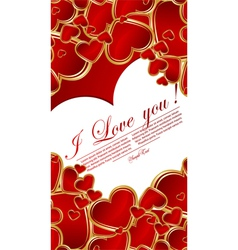 love heart glossy vector image vector image