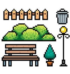 Park elements vector image