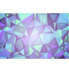 Purple shades green random sizes low poly vector