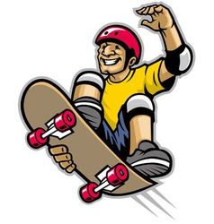 skater doing skateboard trick vector image