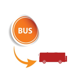 sticker bus orange vector image