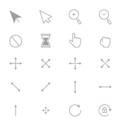 Symbols Internet Arrows and Internet Control Set vector image vector image