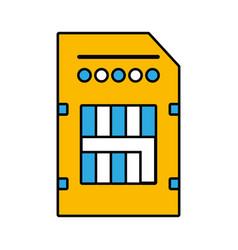 Technology micro sd data memory vector