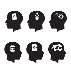 Thinking heads vector