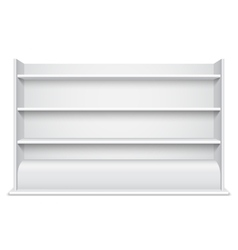 White showcase wiyh empty shelves vector