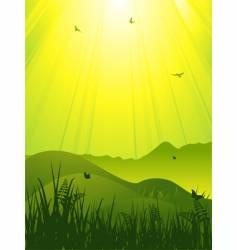wild landscape vector image vector image