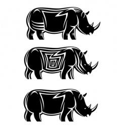wild rhinoceros vector image vector image