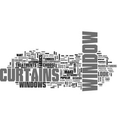 Window curtains text word cloud concept vector