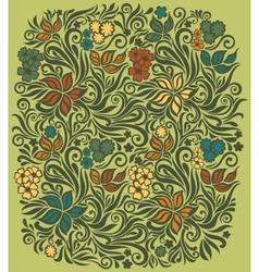 Decorative floral background vector image