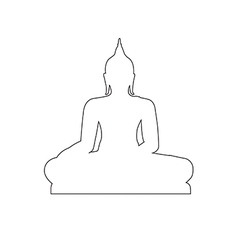 Buddha path on the white background vector
