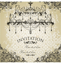 Vintage invitation on grungy paper for design vector